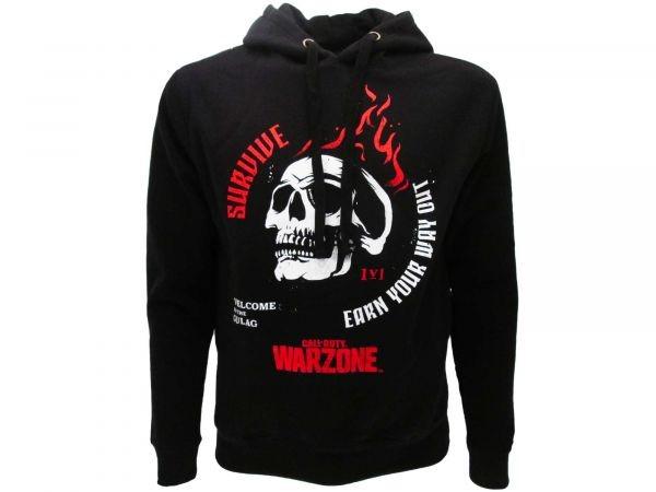 Fashion UK T-Shirt Call of Duty Warzone Teschio Skull WZ Originale Ufficiale Nera Adulto e Ragazzo